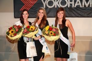 Platz 1 bis 3 der Miss Yokohama Wahl 2011