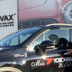 Roxane Baumann, Miss Yokohama pflegt Ihren Fiat 500X bei Swissvax
