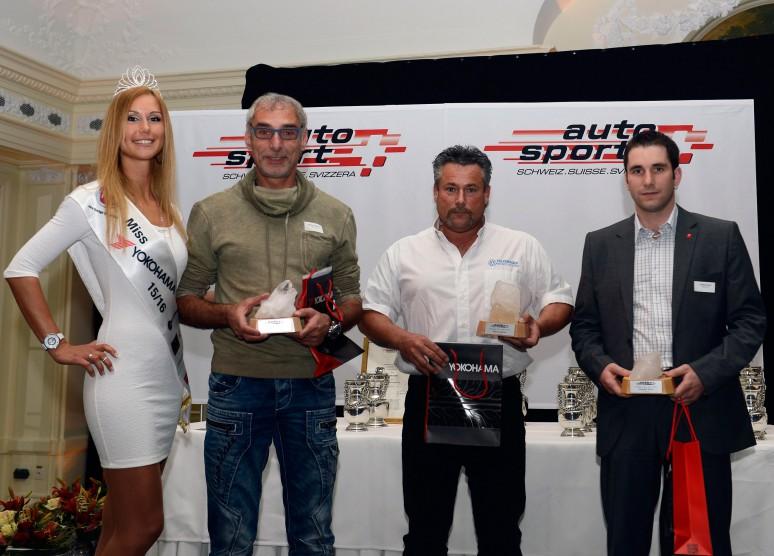 Diner des champions 2015 - Roxane Baumann mit Giuliano Piccinato, Martin Bürki und Stephan Burri