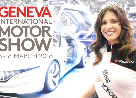Die Yokohama Reifenprinzessin an der 88.Geneva international Motor Show (GIMS)